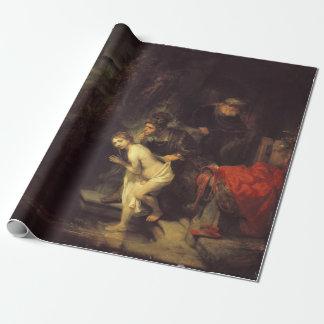 Papel De Presente Rembrandt Susanna e pessoas idosas