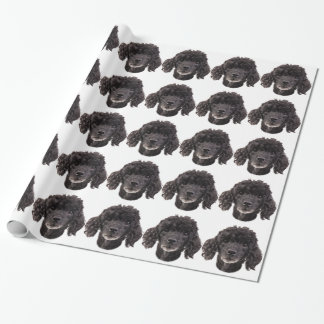 Papel De Presente Retrato de uma caniche preta