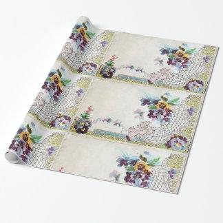 Papel De Presente ROMANTİCA/cesta floral, elegante romântica da flor