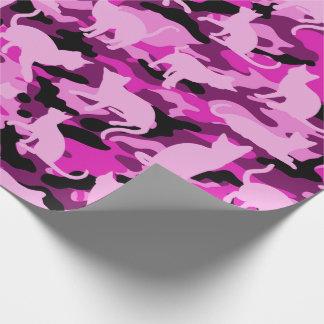Papel De Presente Rosa quente Catmouflage