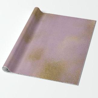 Papel De Presente Roxo de vidro afligido da lavanda do Lilac do ouro