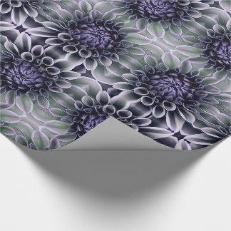 Papel De Presente Roxo violeta e flor da flor de Lavendar