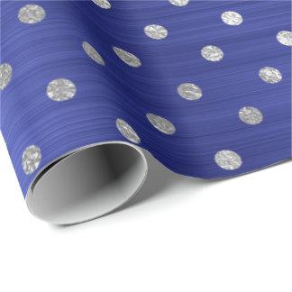 Papel De Presente Safira brilhante de aço dos azuis cobaltos de
