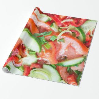 Papel De Presente Salada vegetal
