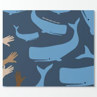 Papel De Presente Salvar as baleias