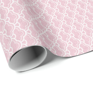 Papel De Presente Seashells do rosa da princesa rosa Pastel brancos