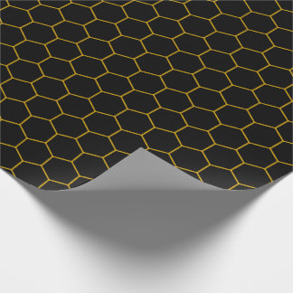 Papel De Presente Simple honeycomb pattern with dark background