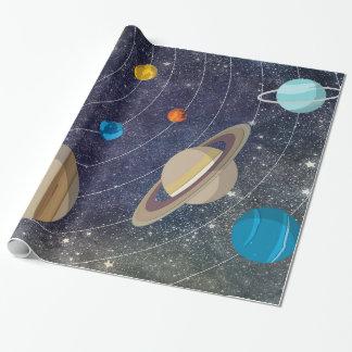 Papel De Presente Sistema solar, espaço e estrelas