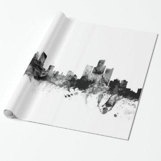 Papel De Presente Skyline de Detroit Michigan