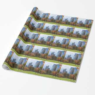 Papel De Presente Skyline franco visto panorama de Manhattan da Nova
