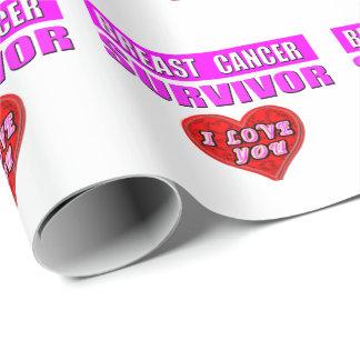 Papel De Presente Sobrevivente do cancro da mama