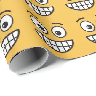 Papel De Presente Sorrindo a cara com olhos abertos