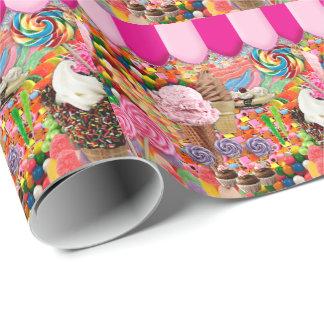 Papel De Presente Sorvete doce super dos doces engraçado