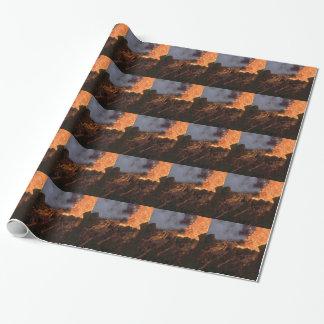 Papel De Presente Splatter e fluxo da lava