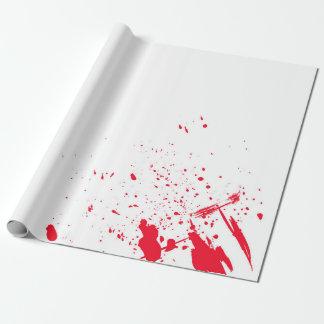 Papel De Presente Splatter vermelho do sangue
