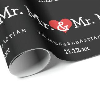 Papel De Presente Sr. e Sr. dois noivos que Wedding
