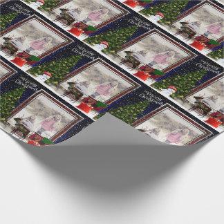Papel De Presente Sua cena do quadro do Natal da foto