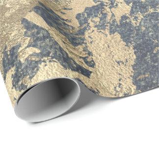 Papel De Presente Sujo metálico brilhante do mármore mais foxier do
