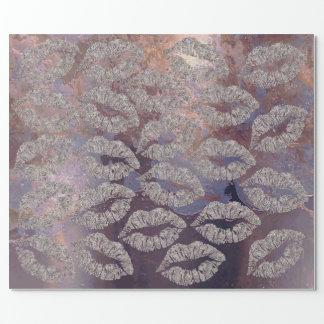Papel De Presente Sujo metálico roxo do cobre da composição dos
