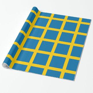 Papel De Presente Sveriges Flagga - bandeira da suecia - bandeira