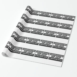 Papel De Presente T-shirt subterrâneos do cabo flexível do hip-hop.