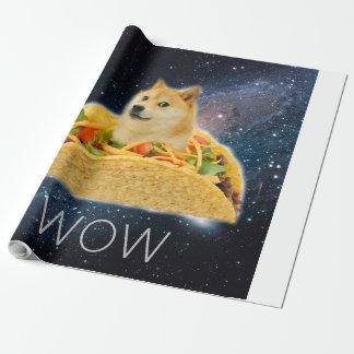 Papel De Presente Taco do Doge - doge cão-bonito do doge-shibe-doge