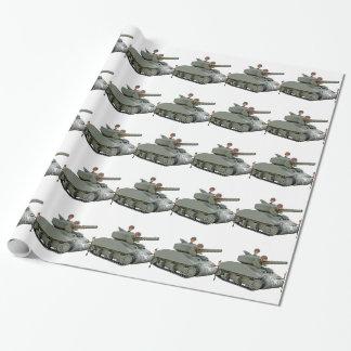 Papel De Presente Tanque e soldados dos desenhos animados na