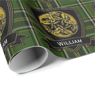Papel De Presente Tartan celta do irlandês do símbolo