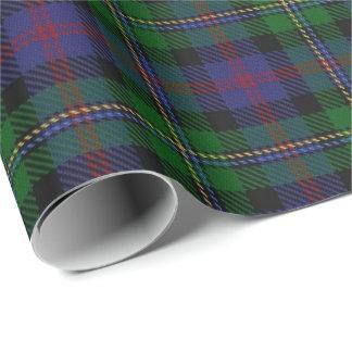 Papel De Presente Tartan do Scottish de Malcolm do clã