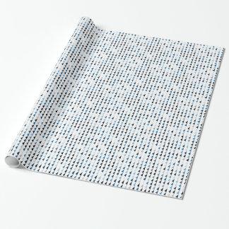 Papel De Presente teste padrão azul 04 da pirâmide
