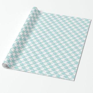 Papel De Presente Teste padrão azul & branco de Tiffany de