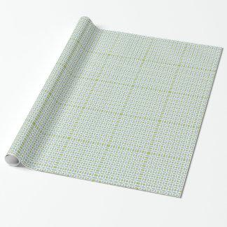 Papel De Presente Teste padrão clássico do círculo e do quadrado
