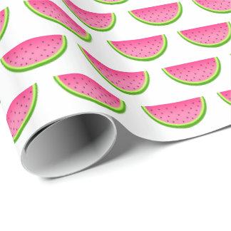 Papel De Presente Teste padrão cor-de-rosa da melancia