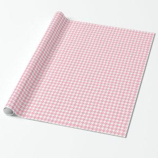 Papel De Presente Teste padrão cor-de-rosa de Houndstooth
