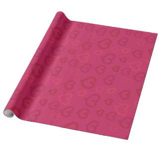 Papel De Presente Teste padrão cor-de-rosa tirado doce dos corações