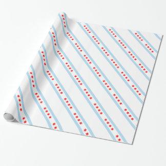 Papel De Presente Teste padrão da bandeira de Chicago