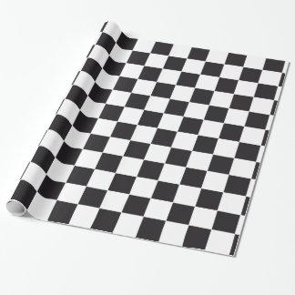 Papel De Presente Teste padrão das corridas de carros/xadrez + seu