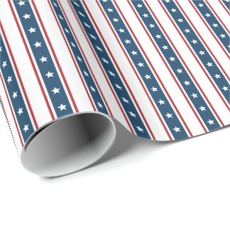 Papel De Presente Teste padrão de bandeira dos Estados Unidos