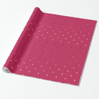 Papel De Presente teste padrão de bolinhas cor-de-rosa do rosa do