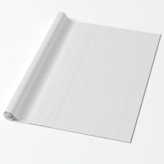 Papel De Presente Teste padrão de ziguezague branco cinzento do Lt