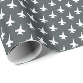 Papel De Presente Teste padrão do avião de combate do zangão de