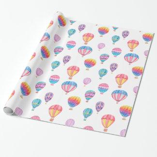 Papel De Presente Teste padrão do balão de ar quente
