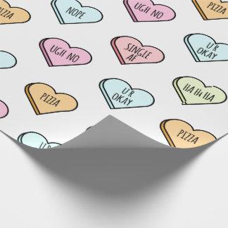 Papel De Presente Teste padrão do coração dos doces dos namorados