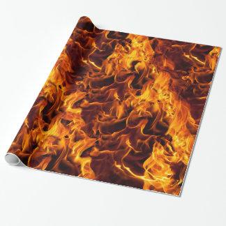 Papel De Presente Teste padrão do fogo e da chama