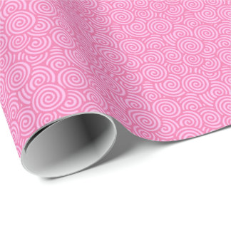 Papel De Presente Teste padrão do redemoinho do japonês - rosa macio