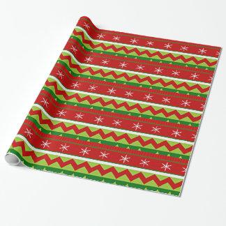 Papel De Presente Teste padrão feio da camisola do Natal