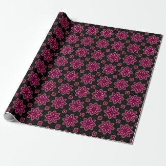 Papel De Presente Teste padrão floral cor-de-rosa