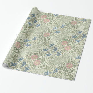Papel De Presente Teste padrão floral de William Morris Larkspur