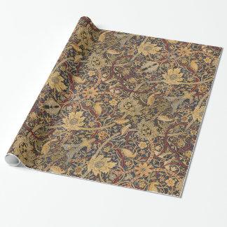 Papel De Presente Teste padrão floral do tecido da tapeçaria do