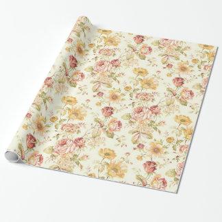 Papel De Presente Teste padrão floral elegante